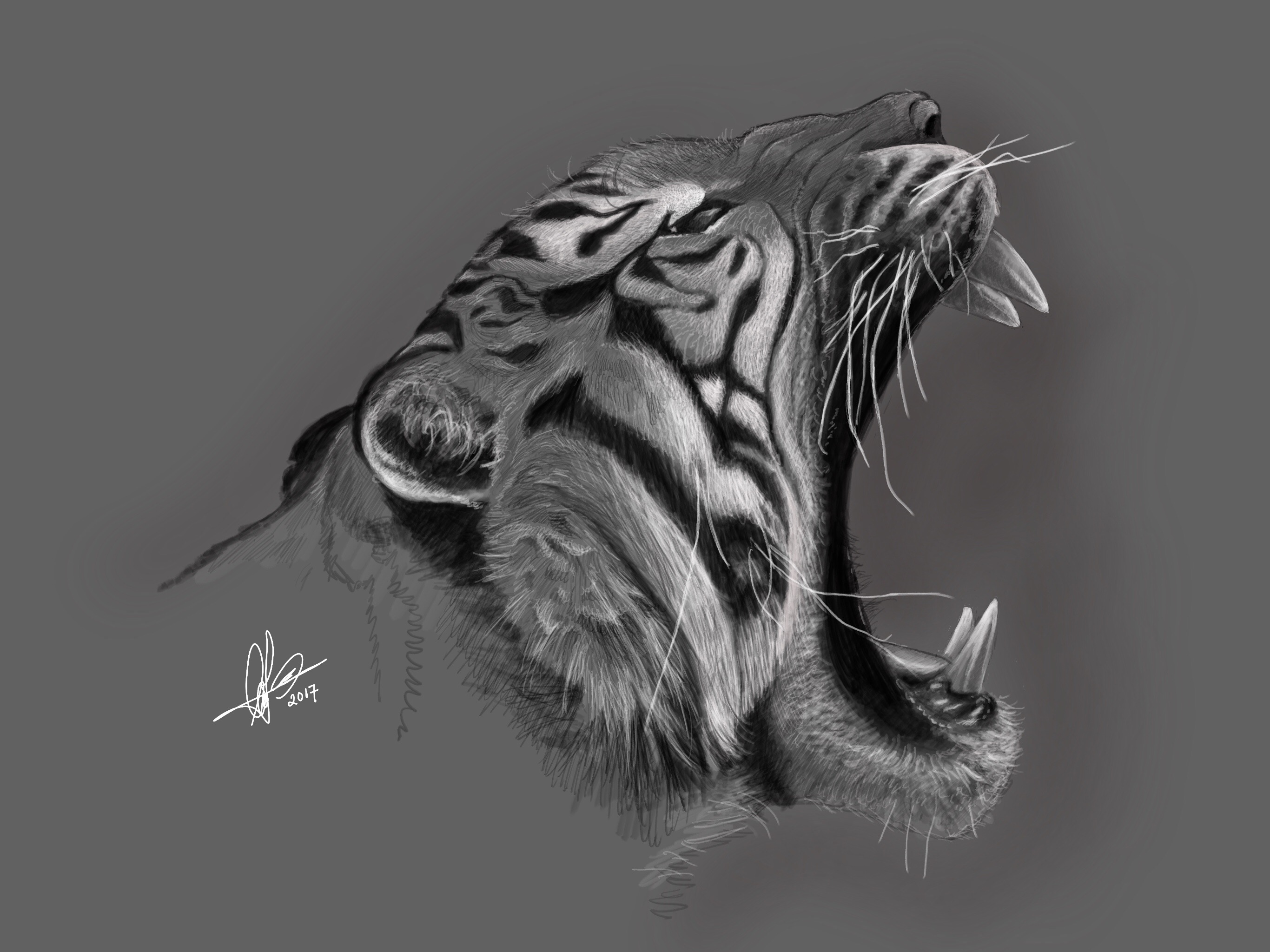 Tiger. Digital art